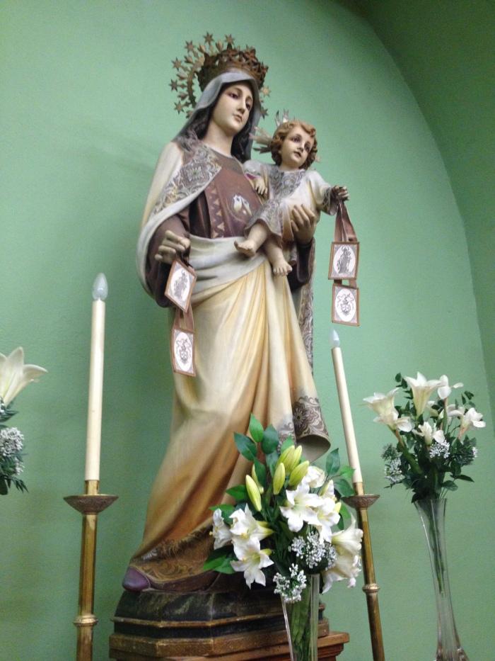 Virgen del Carmen - Biescas - Iglesia de San Pedro